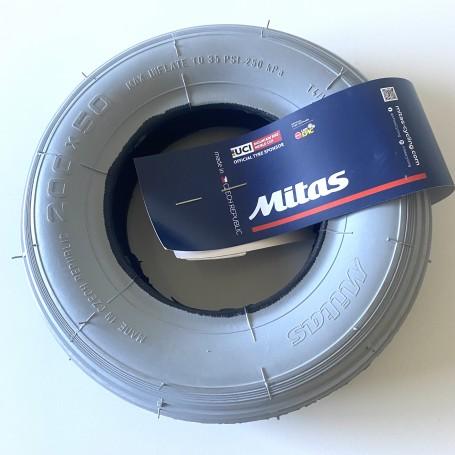 Set cauciuc + camera  200x50 pentru carucior cu rotile, marca Mitas
