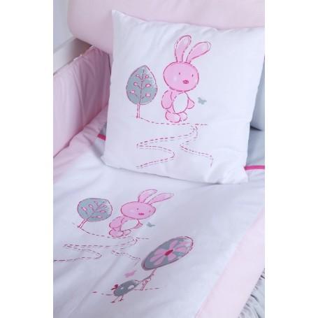 Set lenjerie 3 piese Little Bunny gri-roz