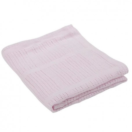 Paturica celulara din bambus 90x60 cm Comfi Love Pale Pink 844289