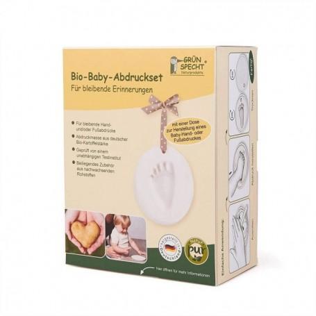 Kit dublu mulaj organic pentru amprenta mana si picior bebelusi Grunspecht 679-00