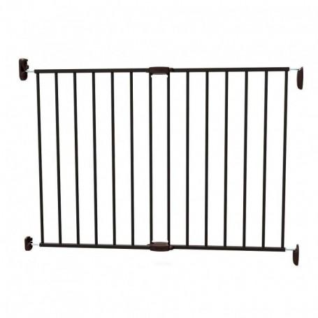 Poarta de siguranta extensibila Noma, 62 – 102 cm, metal negru, N93330