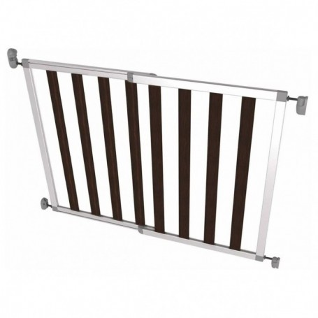Poarta de siguranta extensibila din aluminiu si lemn Noma IKON NOIR, 62–104 cm, N94085