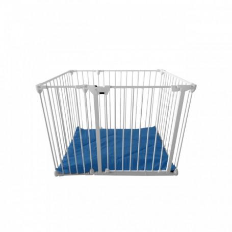 Tarc de joaca modular cu saltea Noma, metal alb, N94221